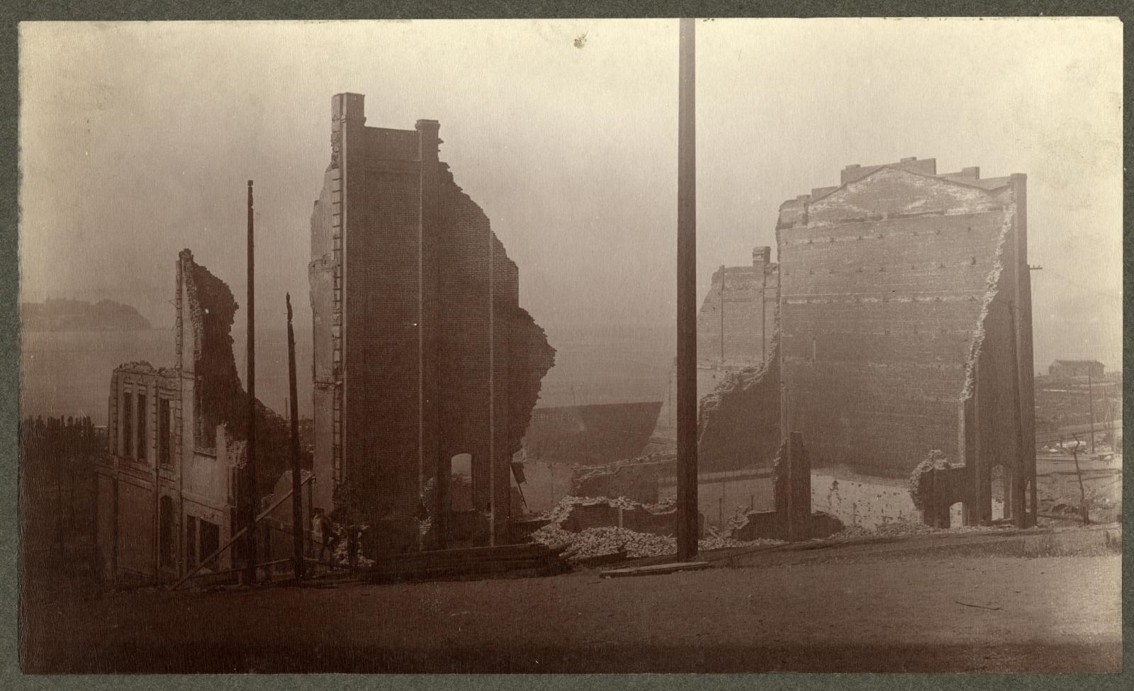 Photo of the ruins of Frye's Opera House