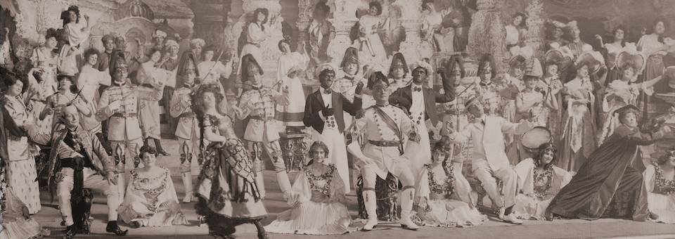 "The  finale of Act I of ""The Sultan of Sulu"" which opened at the Grand Opera House on January 29, 1905."