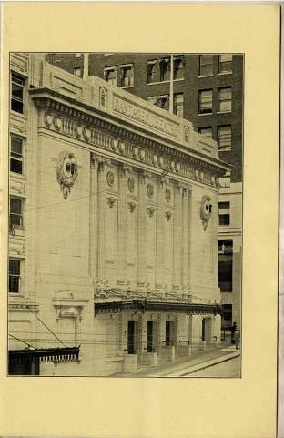 Pantages Theatre featured a wide variety of performances which during the week of July 18, 1915. Some of these performances included gymnasts, comedienne, and unique productions. The first few program pages depict images of the theater as well as the founder of the Pantages.  This program utilizes more verbal content to engage the viewer, than other programs of the Pantages from this time period. There is only a couple of advertisements which were reserved for the final page of the program.